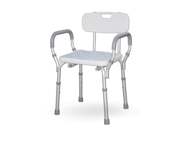 Sedia per doccia con braccioli estraibili e schienale